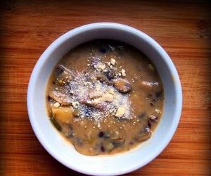 bademli mantar çorbası