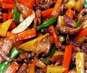 resimli sebzeli tavuk yemeği