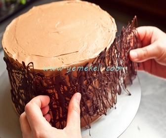 çikolata dolgulu kek yapılışı