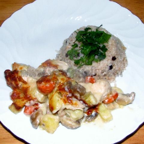 beşamel soslu tavuk yapılışı
