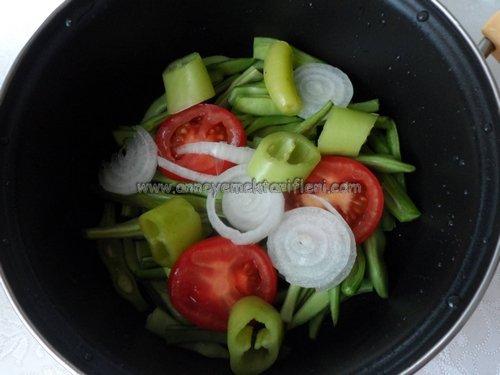 zeytinyağlı fasulye dizmesi yapılışı