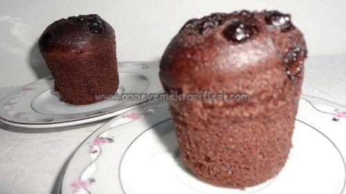 kolay damla çikolatalı fincan kek