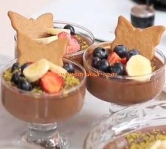 çikolatalı kayısılı sütlaç tarifi
