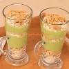şekersiz yeşil puding