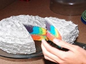 gıda boyalı kek tarifi