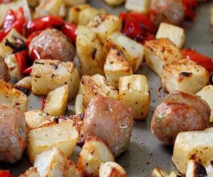 zeytinyağlı biberli patates