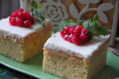 Islak Kremalı Kek