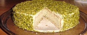 yaş pasta fıstıklı