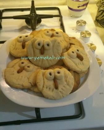 baykuş kurabiye yapılışı