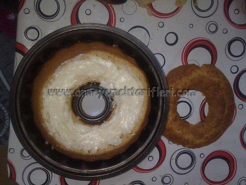 sürpriz kremalı kek yapımı