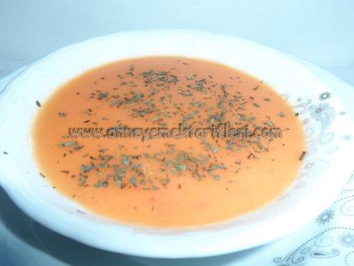anlatımlı domates çorbası