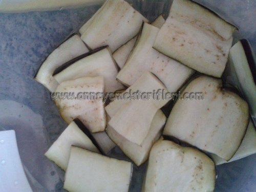 kaşarlı patlıcan kızartması yapımı