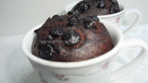 damla çikolatalı fincan kek tarifi