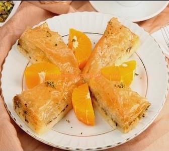 portakallı muhallebili baklava
