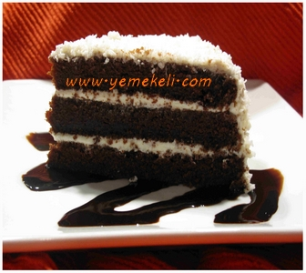 çikolatalı hindistan cevizli kek