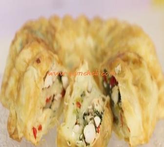 kek kalıbında tavuklu börek