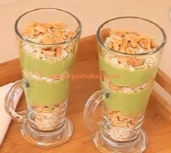 şekersiz yeşil puding tarifi